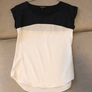Express black and white block top Size: XS